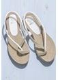 Elle Parmak Arası Sandalet Beyaz